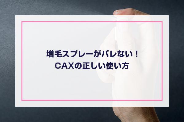 CAXの正しい使い方